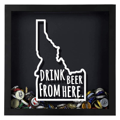 Torched Products Shadow Box Idaho Drink Beer From Here Beer Cap Shadow Box (781167100021)