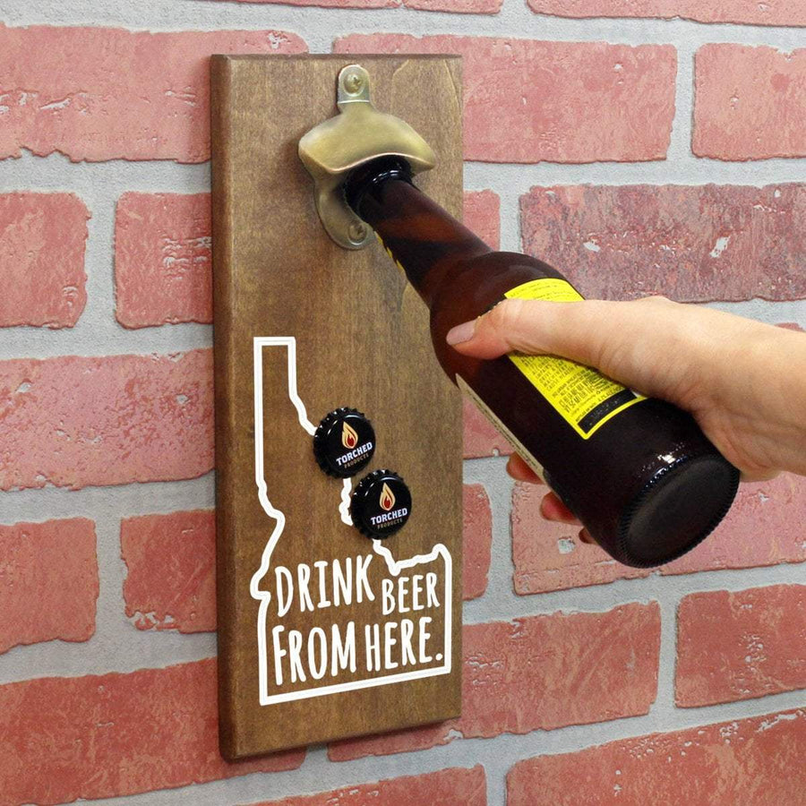 Torched Products Bottle Opener Default Title Idaho Drink Beer From Here Cap Catching Magnetic Bottle Openers (781487505525)