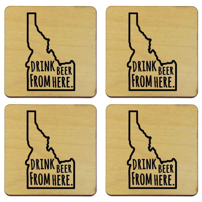 Torched Products Coasters Idaho Drink Beer From Here Coasters (781447594101)