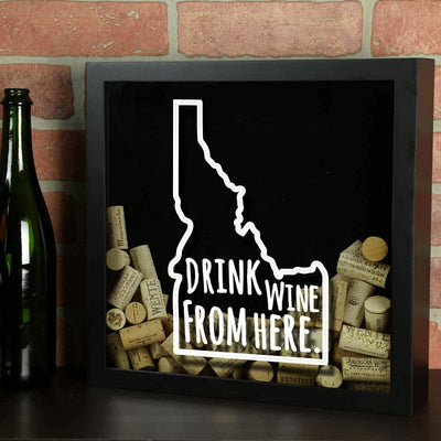 Torched Products Shadow Box Idaho Drink Wine From Here Wine Cork Shadow Box