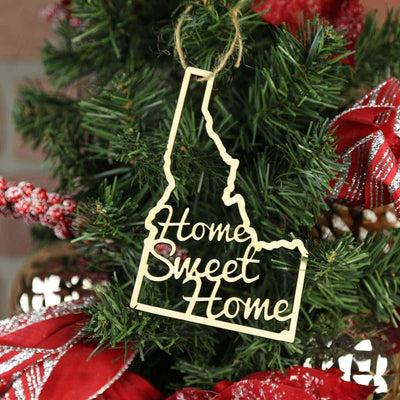 Torched Products Ornaments Idaho Home Sweet Home Ornaments