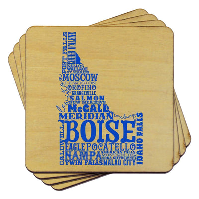 Torched Products Coasters Idaho State Typography Coaster (787812089973)