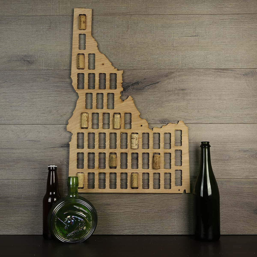 Torched Products Wine Cork Map Idaho Wine Cork Map (778965155957)