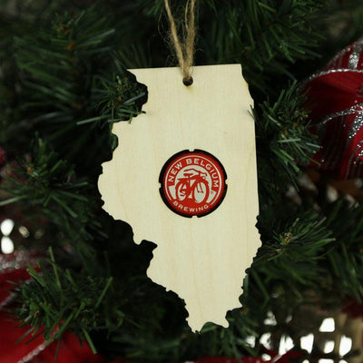 Torched Products Beer Cap Maps Illinois Beer Cap Map Ornaments