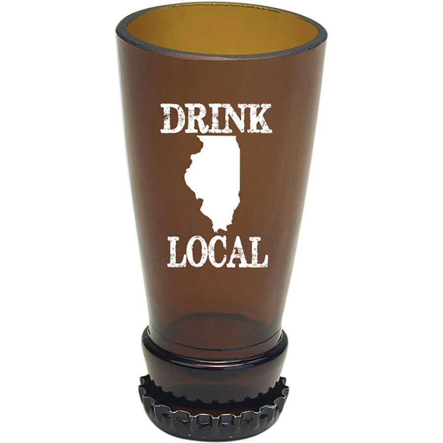 Torched Products Barware Illinois Drink Local Beer Bottle Shot Glass (4507015315505)