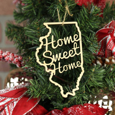 Torched Products Ornaments Illinois Home Sweet Home Ornaments