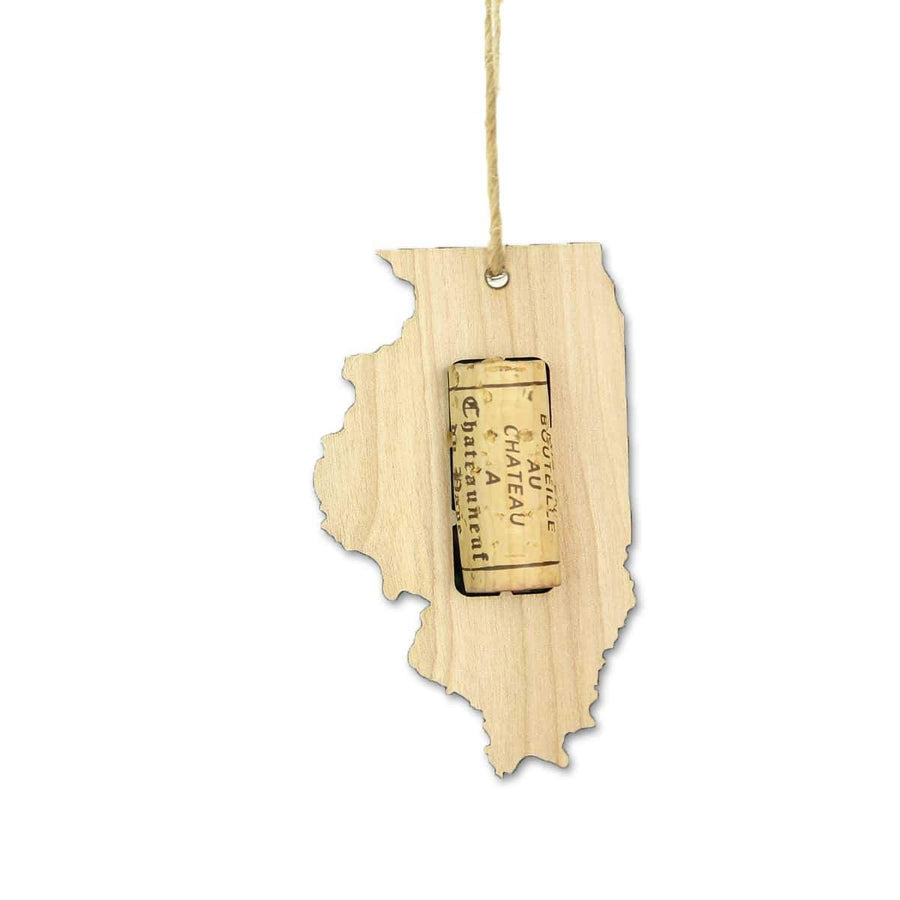 Torched Products Wine Cork Holder Illinois Wine Cork Holder Ornaments (781197607029)