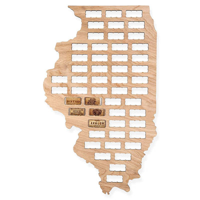 Torched Products Wine Cork Map Illinois Wine Cork Map (778968629365)
