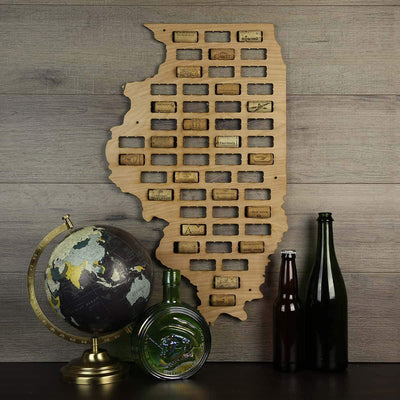 Torched Products Wine Cork Map Illinois Wine Cork Map