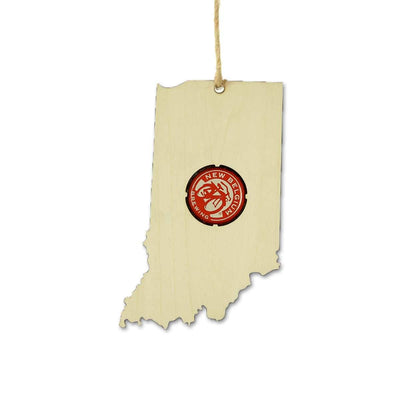 Torched Products Ornaments Indiana Beer Cap Map Ornaments (781558874229)