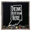 Torched Products Shadow Box Gray Indiana Drink Beer From Here Beer Cap Shadow Box (781175324789)
