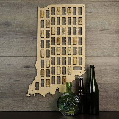 Torched Products Wine Cork Map Indiana Wine Cork Map (778970464373)