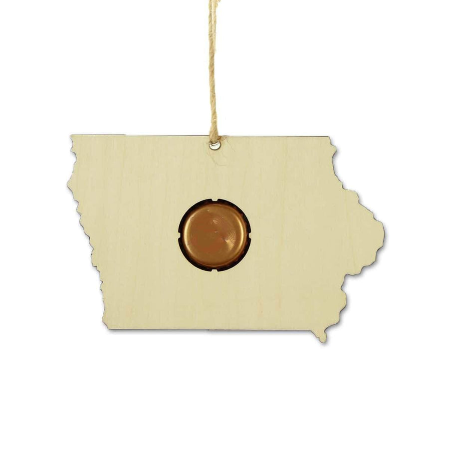 Torched Products Beer Cap Maps Iowa Beer Cap Map Ornaments