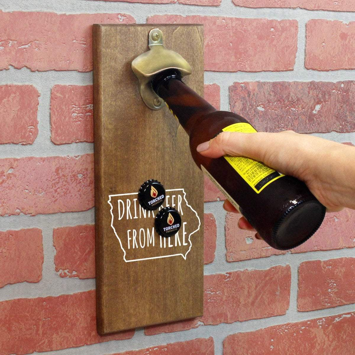 Torched Products Bottle Opener Default Title Iowa Drink Beer From Here Cap Catching Magnetic Bottle Openers (781487079541)