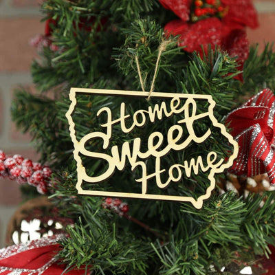 Torched Products Ornaments Iowa Home Sweet Home Ornaments (781215170677)