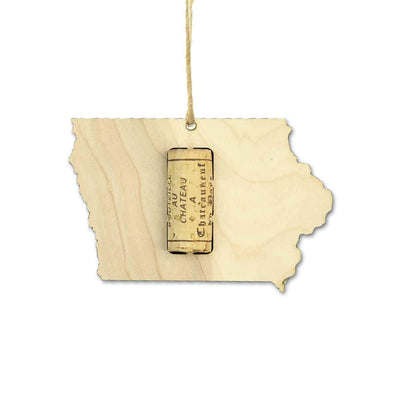 Torched Products Wine Cork Holder Iowa Wine Cork Holder Ornaments (781198098549)