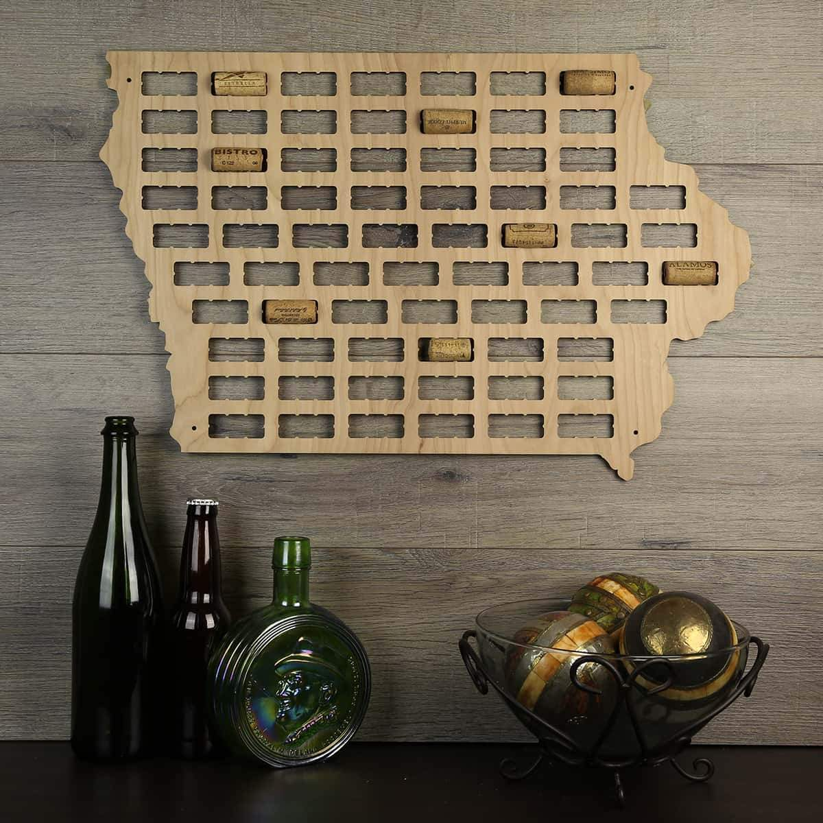 Torched Products Wine Cork Map Iowa Wine Cork Map (778970988661)