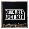 Torched Products Shadow Box Gray Kansas Drink Beer From Here Beer Cap Shadow Box (781175488629)