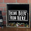 Torched Products Shadow Box Kansas Drink Beer From Here Beer Cap Shadow Box (781175488629)