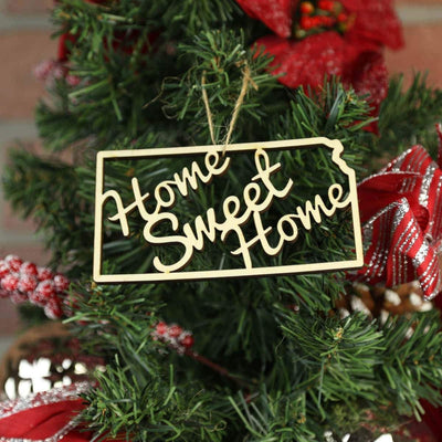 Torched Products Ornaments Kansas Home Sweet Home Ornaments