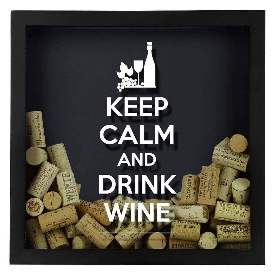 Torched Products Shadow Box Keep Calm Drink Wine Shadow Box
