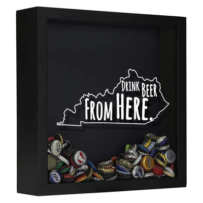 Torched Products Shadow Box Black Kentucky Drink Beer From Here Beer Cap Shadow Box (781175586933)