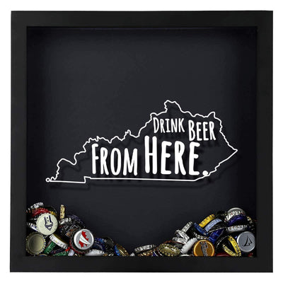 Torched Products Shadow Box Kentucky Drink Beer From Here Beer Cap Shadow Box (781175586933)