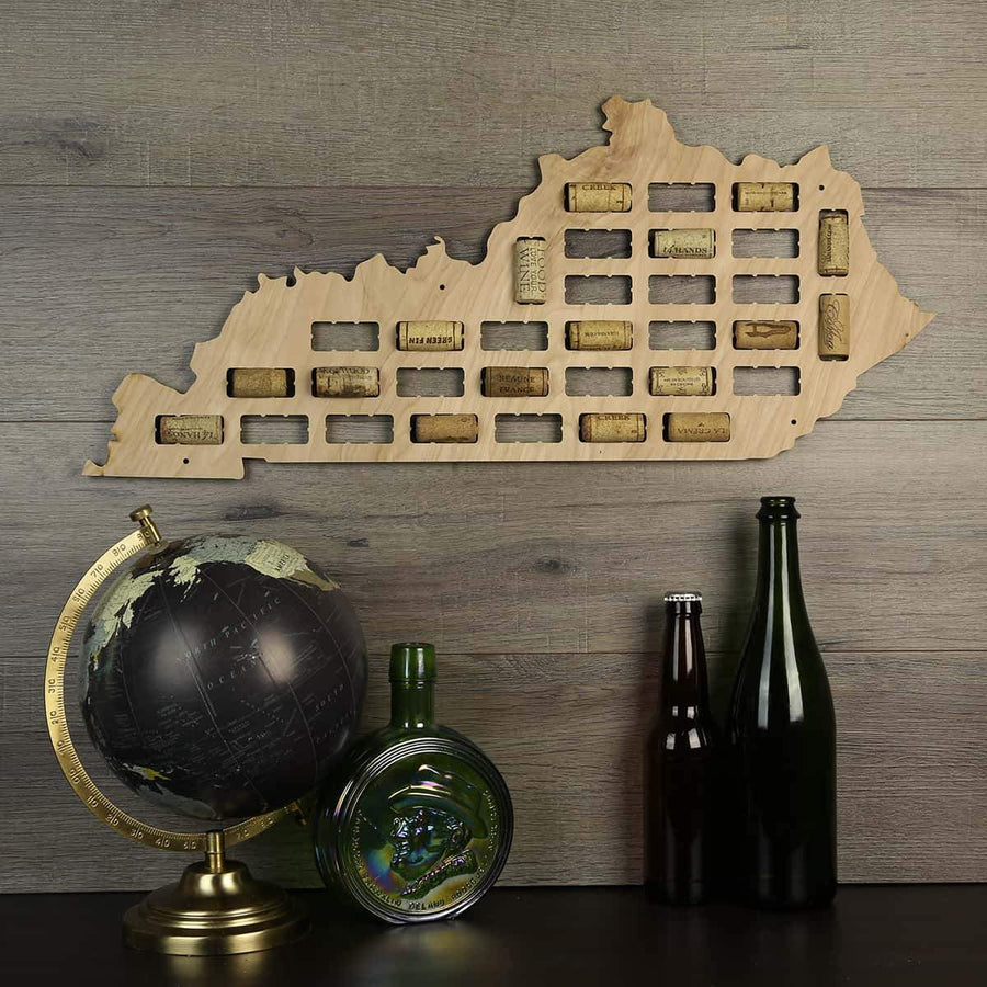 Torched Products Wine Cork Map Kentucky Wine Cork Map (778971775093)