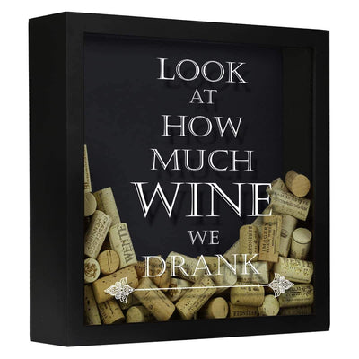 Torched Products Shadow Box Black Look at How Much Wine We Drank Wine Cork Shadow Box (778760355957)