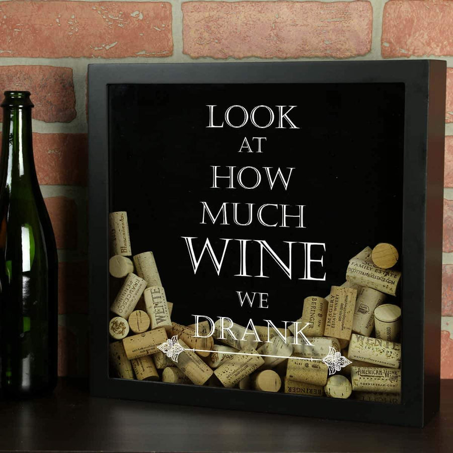 Torched Products Shadow Box Black Look at How Much Wine We Drank Wine Cork Shadow Box