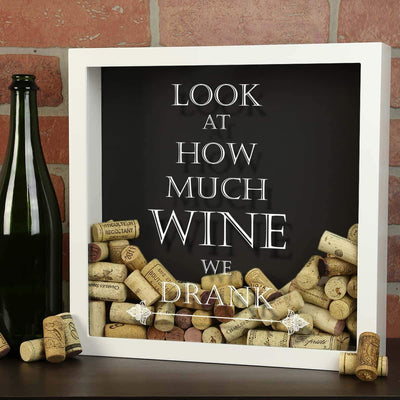 Torched Products Shadow Box Look at How Much Wine We Drank Wine Cork Shadow Box