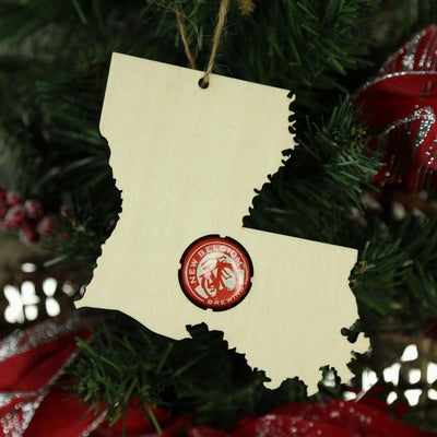 Torched Products Beer Cap Maps Louisiana Beer Cap Map Ornaments (781563527285)
