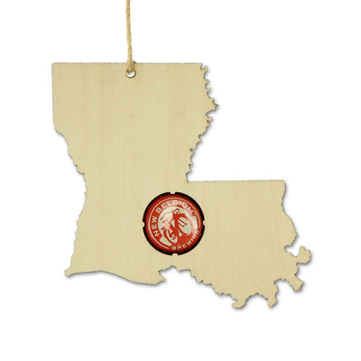 Torched Products Ornaments Louisiana Beer Cap Map Ornaments
