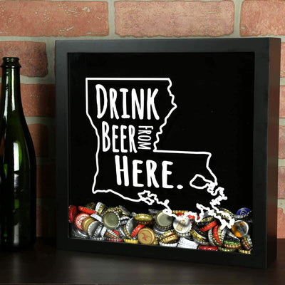Torched Products Shadow Box Louisiana Drink Beer From Here Beer Cap Shadow Box
