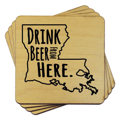 Torched Products Coasters Louisiana Drink Beer From Here Coasters