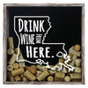 Torched Products Shadow Box Gray Louisiana Drink Wine From Here Wine Cork Shadow Box (795742634101)