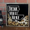 Torched Products Shadow Box Louisiana Drink Wine From Here Wine Cork Shadow Box (795742634101)
