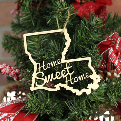 Torched Products Ornaments Louisiana Home Sweet Home Ornaments