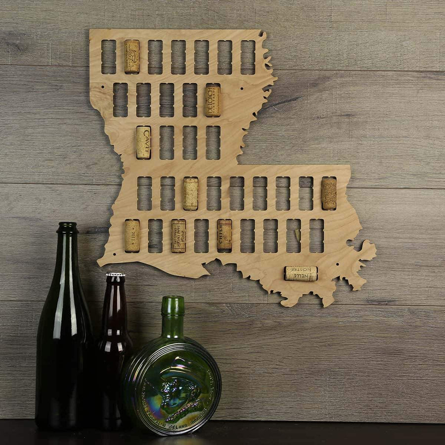 Torched Products Wine Cork Map Louisiana Wine Cork Map (778972266613)