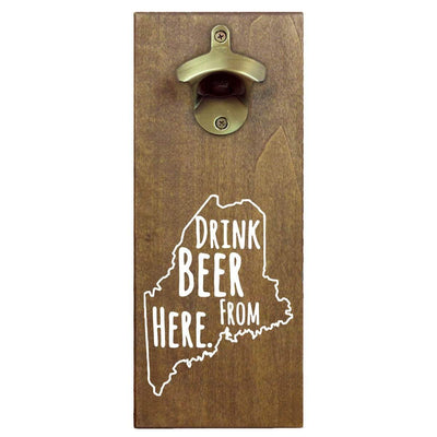 Torched Products Bottle Opener Default Title Maine Drink Beer From Here Cap Catching Magnetic Bottle Opener