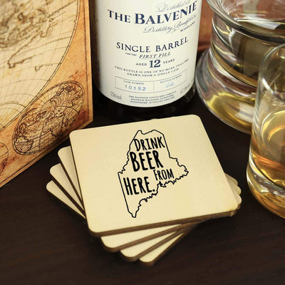 Torched Products Coasters Maine Drink Beer From Here Coasters