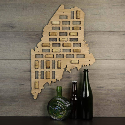 Torched Products Wine Cork Map Maine Wine Cork Map