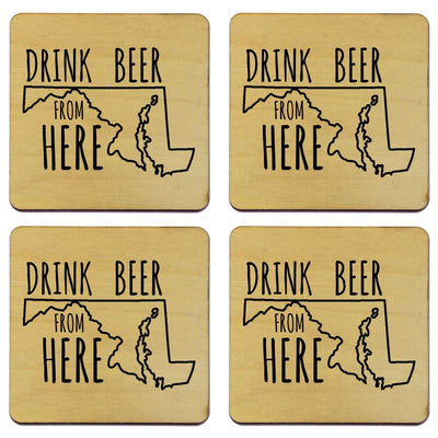 Torched Products Coasters Maryland Drink Beer From Here Coasters