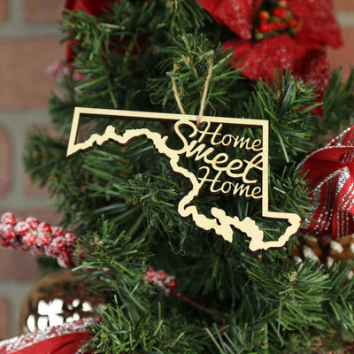 Torched Products Ornaments Maryland Home Sweet Home Ornaments