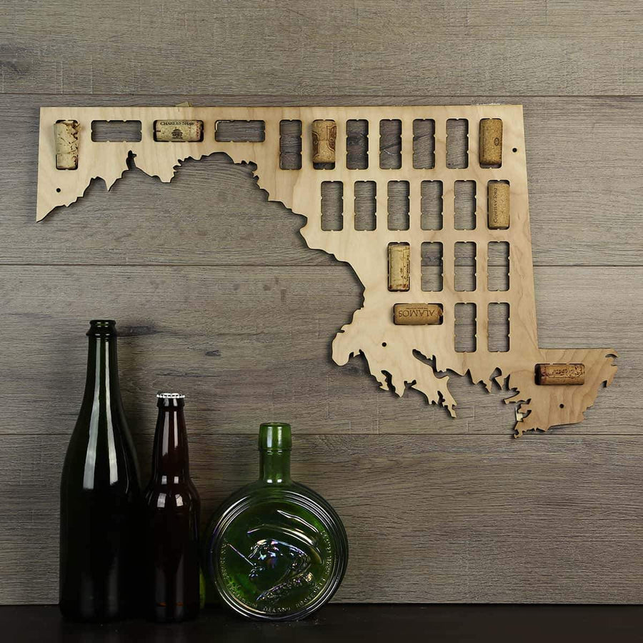 Torched Products Wine Cork Map Maryland Wine Cork Map
