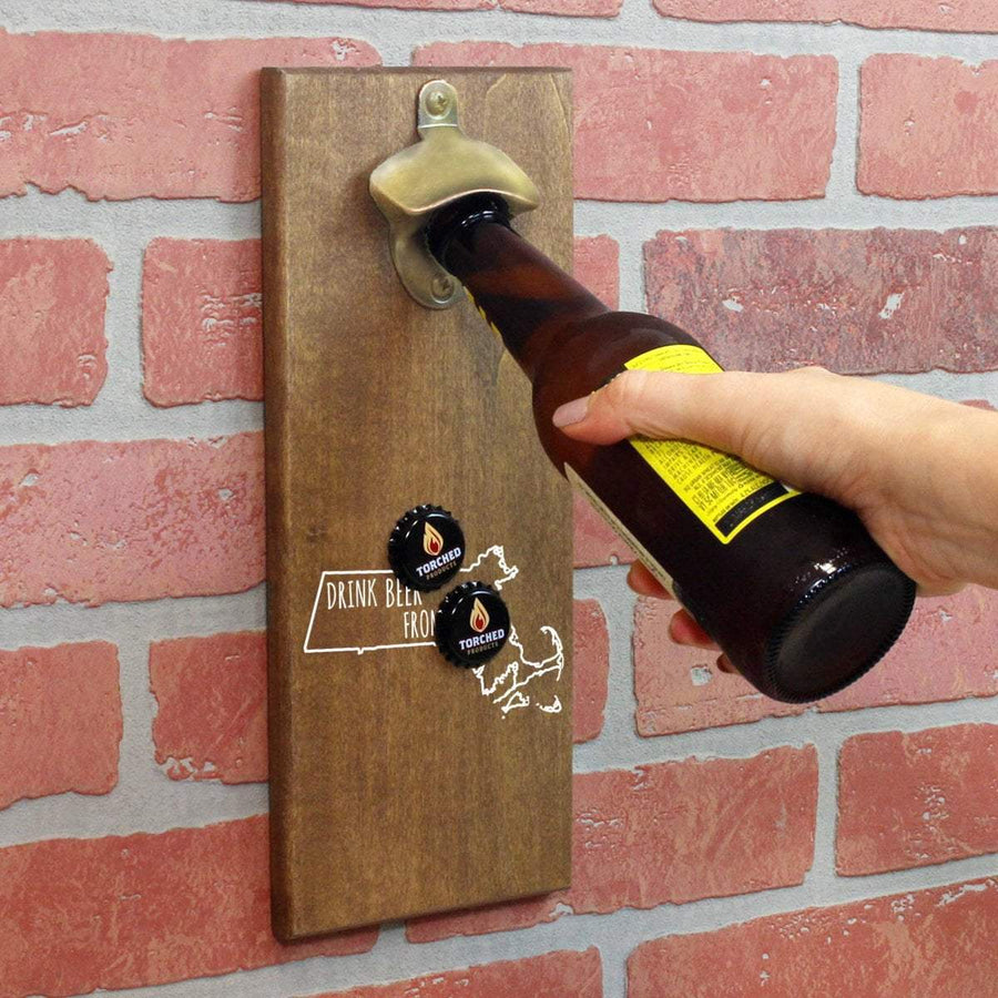 Torched Products Bottle Opener Default Title Massachusetts Drink Beer From Here Cap Catching Magnetic Bottle Opener (781489406069)