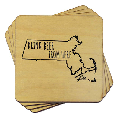 Torched Products Coasters Massachusetts Drink Beer From Here Coasters