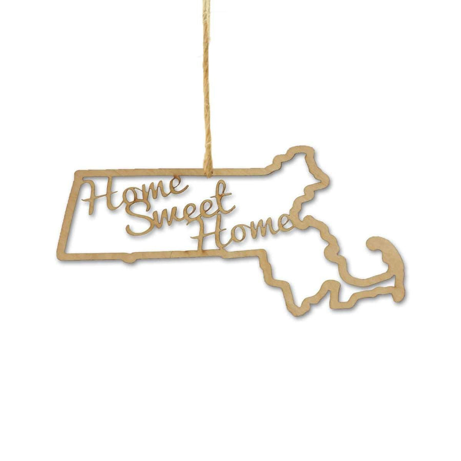 Torched Products Ornaments Massachusetts Home Sweet Home Ornaments