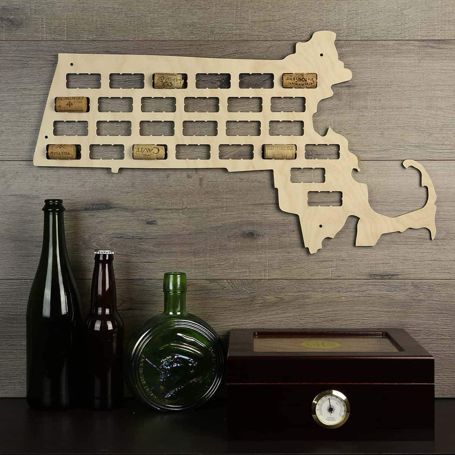 Torched Products Wine Cork Map Massachusetts Wine Cork Map (778973610101)