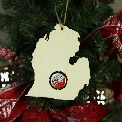 Torched Products Beer Cap Maps Michigan Beer Cap Map Ornaments